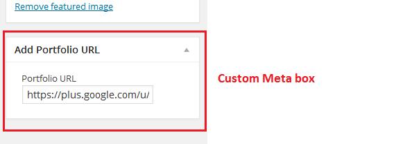 Wordpress custom meta box